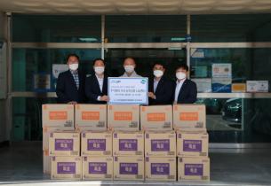NH농협 경기노조, 송산노인종합복지관 후원물품(식료품 세트) 기탁